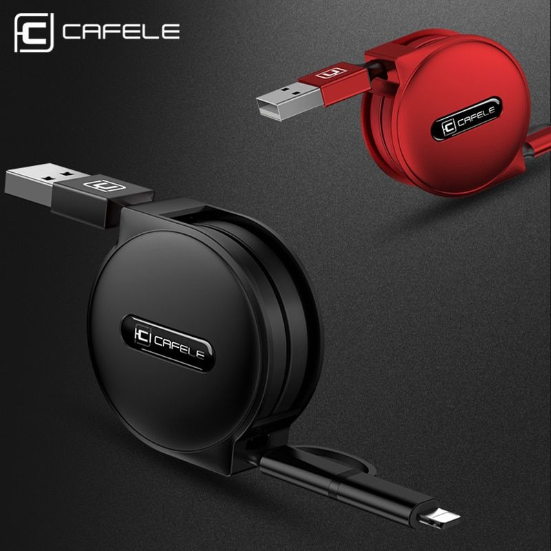 CAFELE 3 Style 100cm retractable USB fast charging Cable for iPhone X Xs Max 8 7 6s plus micro type-c for Samsung xiaomi huawei