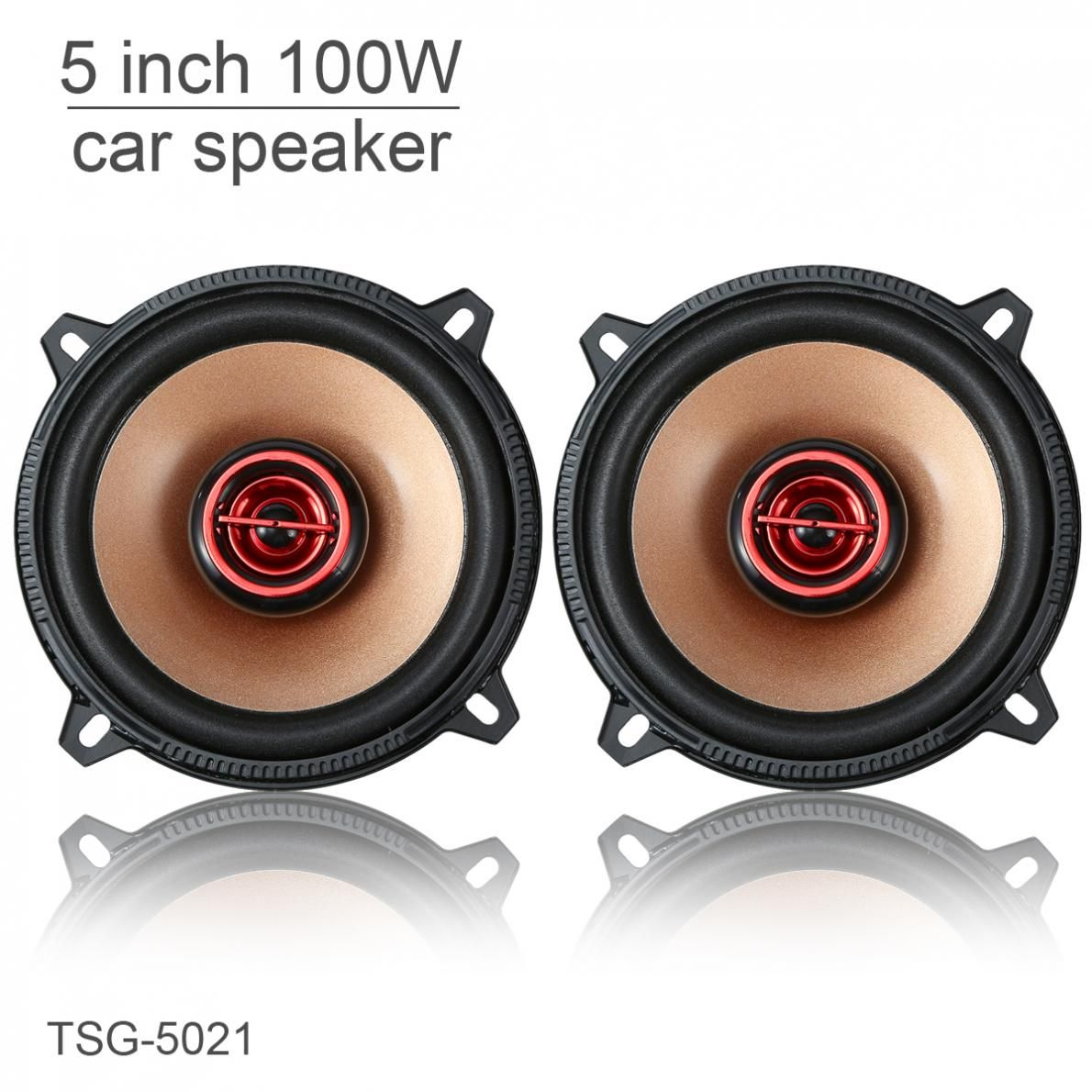 2Pcs 5 Inch Speaker 100W Car Coaxial Speaker HiFi Perfect Sound Audio Stereo Car Speakers Loudspeaker For Cars