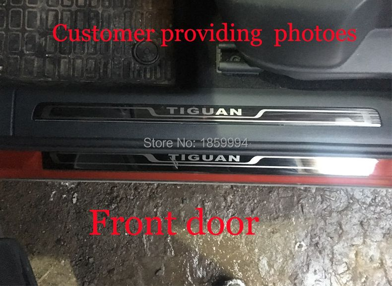 for 2016 2017 2018 VW Tiguan mk2 Europe version car scuff plate door sill trim welcome pedal