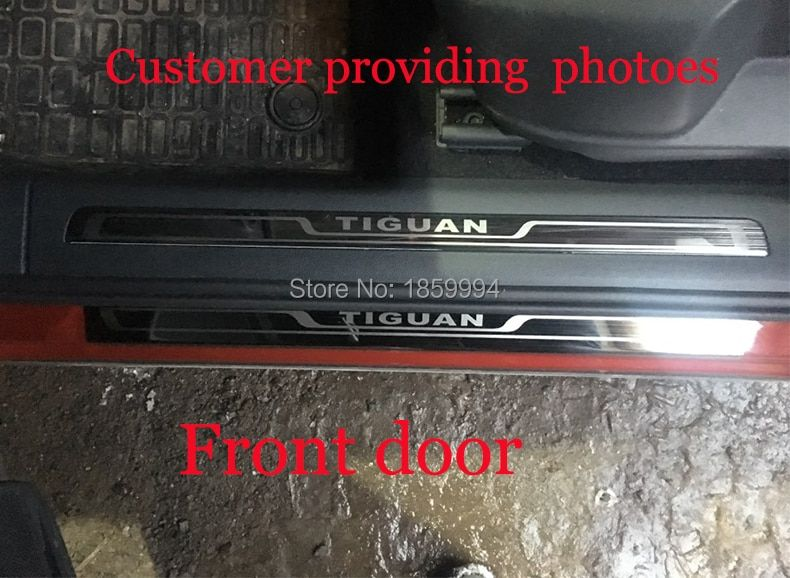 for 2016 2017 2018 VW Tiguan mk2 Europe <font><b>version</b></font> car scuff plate door sill trim welcome pedal