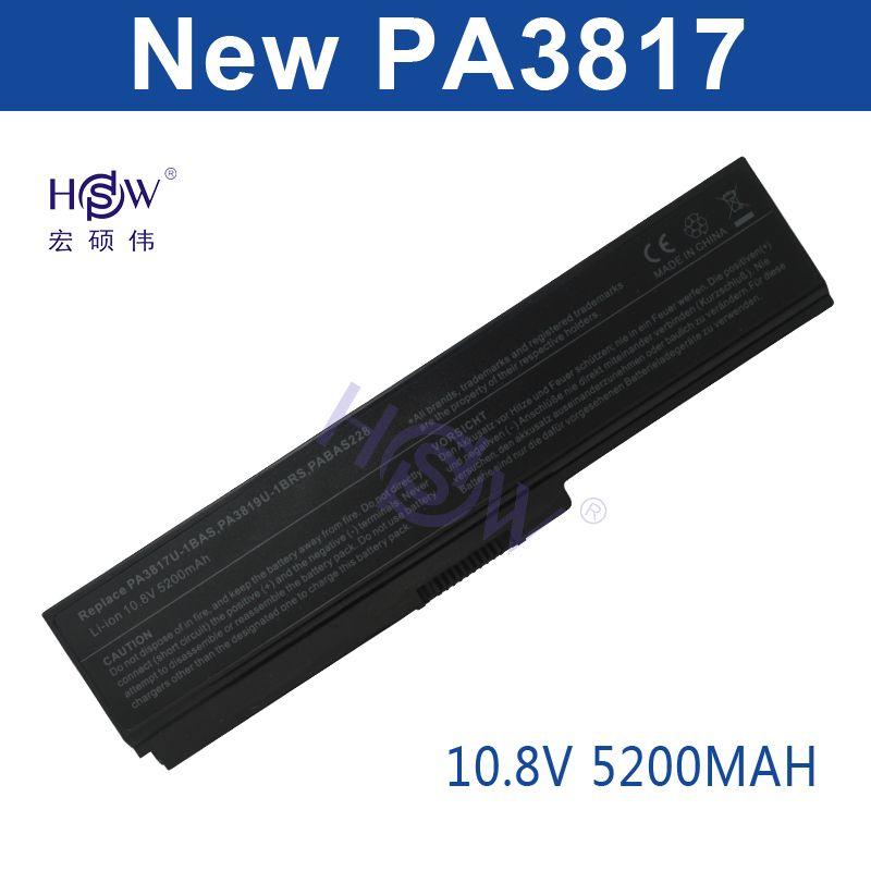 HSW 6 zellen laptop akku forTOSHIBA PA3817U-1BAS PA3817U-1BRS Satellite L700 L730 L735 L770 L740 L745 L750 L755 L775 bateria