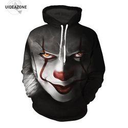 Pennywise 3D Clown Hoodie Sweatshirt Men Women Pullover Hoody Tops Sudadera Hombre Casual Brand Sportswear Tracksuit EUR Size