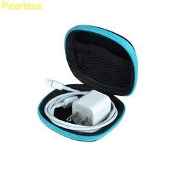 Taranya Acak warna Klip Klip Pemegang Dispenser Tas Headphone Earphone Kabel Earbud Storage Pouch bag Organizer Meja