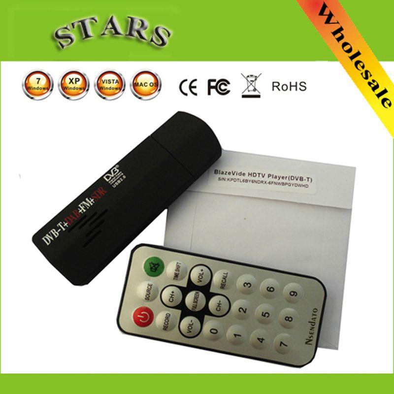 Neue Digitale USB2.0 Mini HD TV Stick FM + DAB DVB-T RTL2832U + R820T für SDR-TUNER-EMPFÄNGER Recorder Für Laptop PC, Dropshipping
