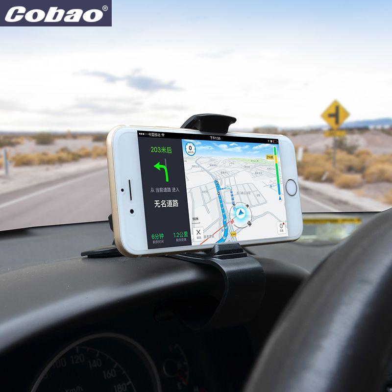 Cobao universel voiture support de téléphone tableau de bord clip mobile support pour téléphone pour iPhone Samsung Xiaomi Huawei accessoires