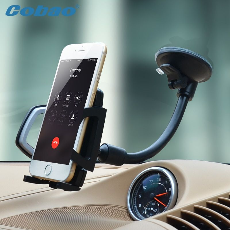 Universal Long Arm Windshield mobile Cellphone Car Mount Bracket Holder for your mobile phone Stand for iPhone GPS MP4