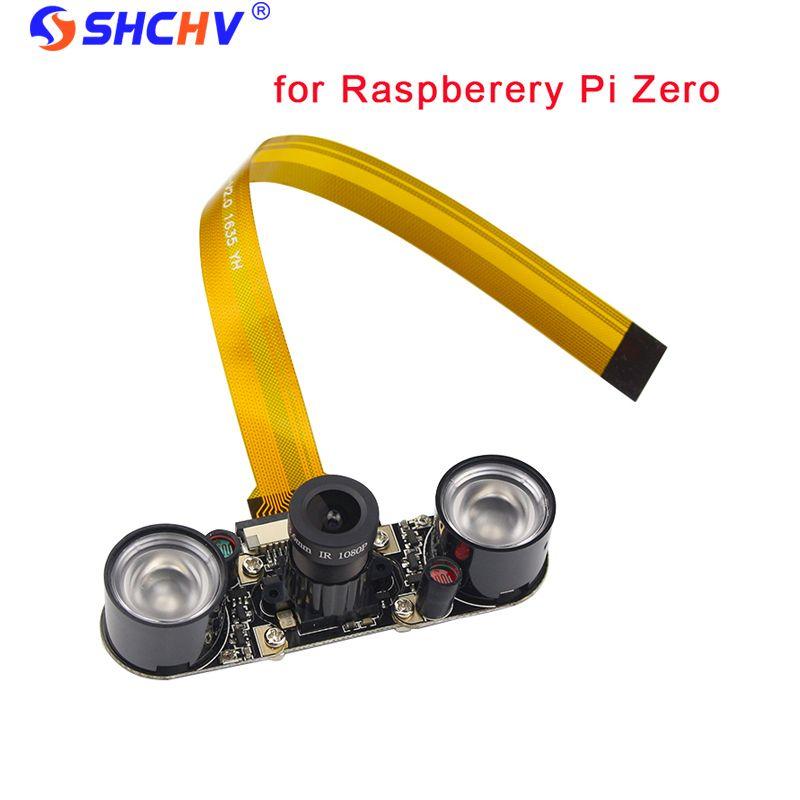 Raspberry Pi Zéro Caméra Focale Réglable Module Nuit Vision + 2 pcs IR capteur LED Lumière + 16 cm FFC pour Raspberry Pi Zéro W/1.3