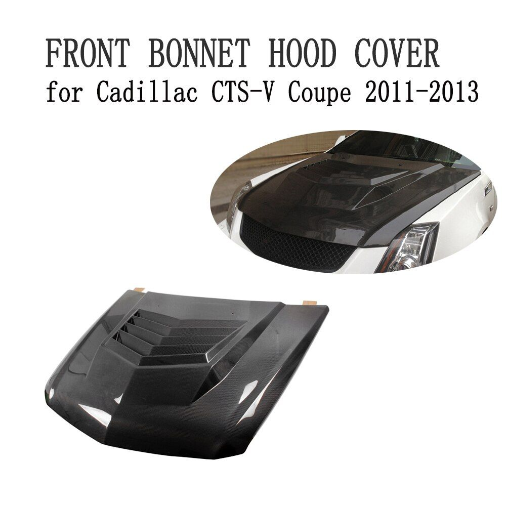 Carbon Fiber Front Bonnet Hood Cover Bodykit Fit for Cadillac CTS-V Coupe 2011-2013 Car Styling