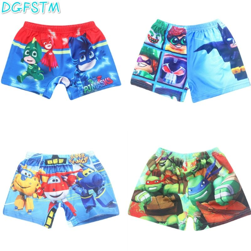 2017 New summer shorts Children boy Moana Maui shorts Vaiana clothing boy Ninjago swimsuit children boys super wings swim trunks