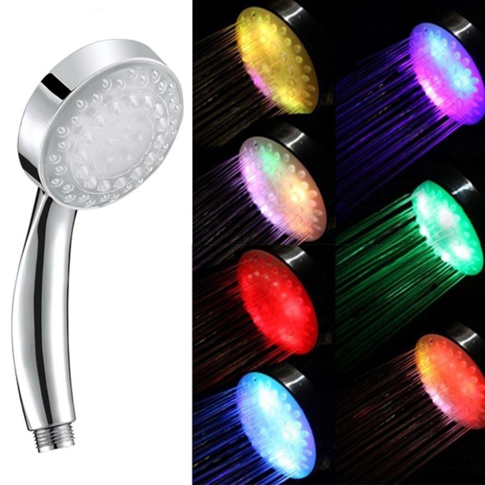 5 Led-leuchten Gabe Regen Dusche Kopf 7 Farbe Romantische Automatische Magie Einzigen Runde Kopf für Wasser Dusche