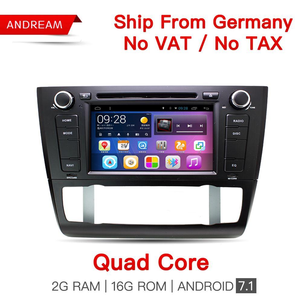 Quad Core Android7.1 2G RAM Car Multimedia Player For BMW E80 E81 E82 E87 Car DVD Navigation GPS WIFI Bluetooth Radio