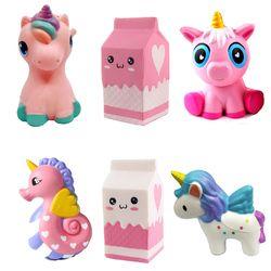 Baru Lucu Squishe Susu Kotak Memeras Mainan Licin Lambat Rising Lelucon Mainan Susu Kotak Kue Model Mainan Hadiah untuk Anak-anak