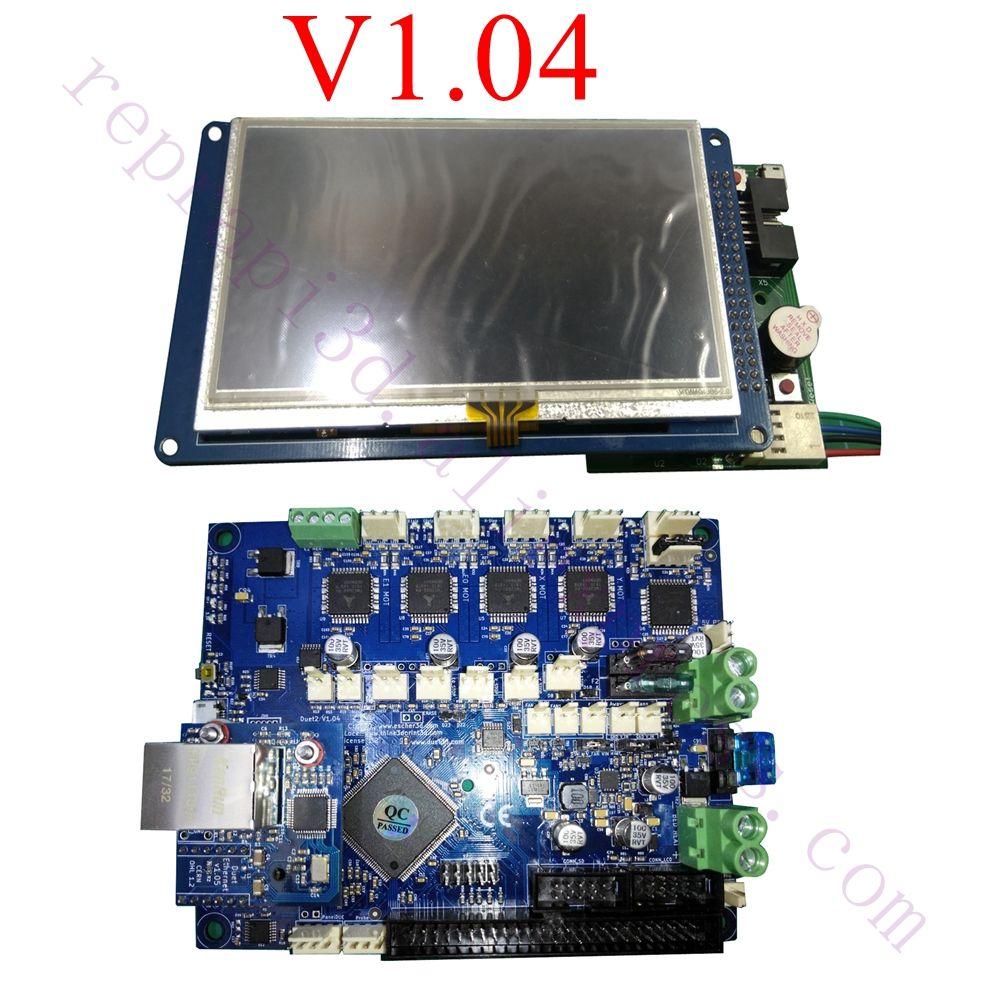 Neueste V1.04 Duet 2 Ethernet Controller board 32 bit bord Duett Ethernet Motherboard W/4,3 7 PanelDue touch Screen Controller