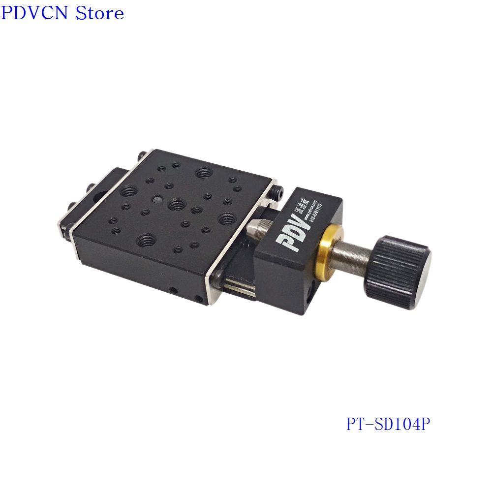 Étape linéaire manuelle d'axe des X de voyage de 13mm, Station de déplacement manuelle d'étape de traduction, plate-forme manuelle, Table coulissante optique