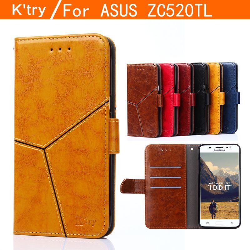 K'try Pour Asus Zenfone 3 Max ZC520TL Cas De Luxe Flip étui en cuir pour support Pour Asus ZC520TL livre à couverture rigide Style coque de téléphone portable