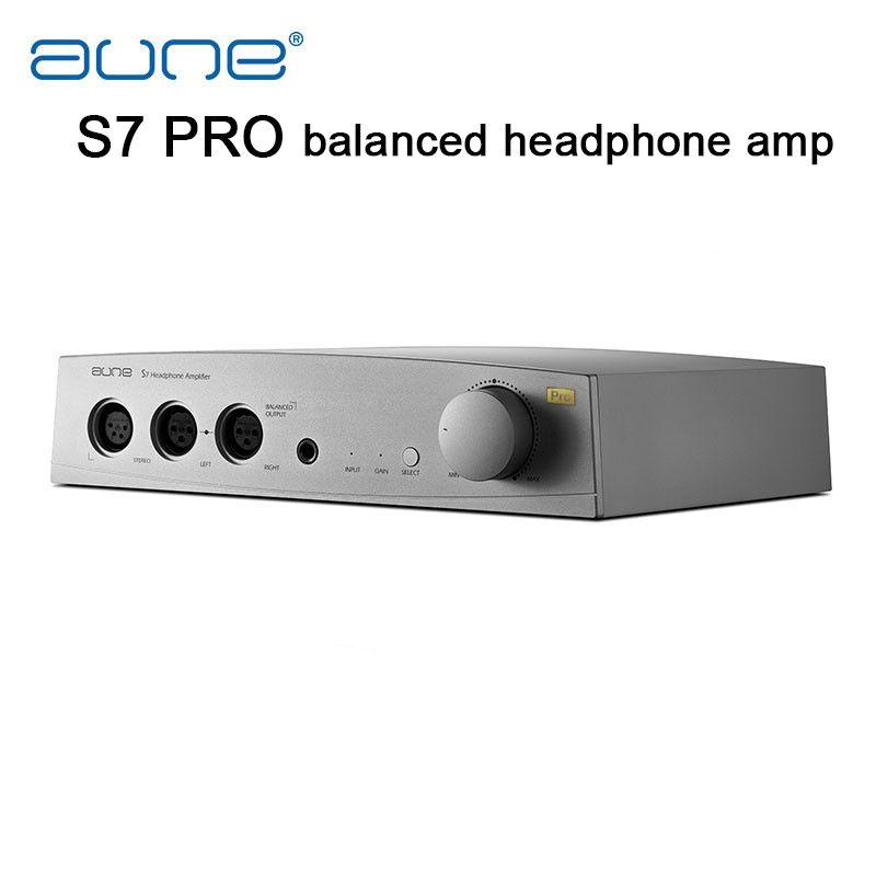 AUNE S7 Pro Ausgewogene Kopfhörer amp RCA XLR Einzel Ende Ausgewogene Eingang Ausgewogene 6,5mm Ausgang AMP professionelle Kopfhörer Verstärker
