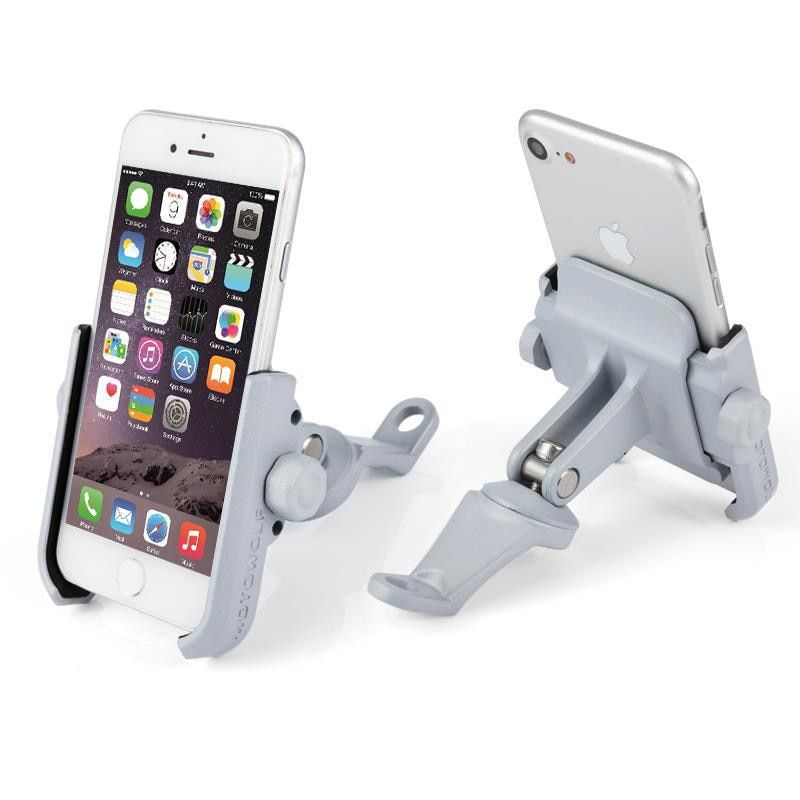 Universal Aluminum Alloy Rearview Mirror Motorcycle Phone Holder For iPhoneX 8 7 6s Support Telephone Moto Holder For GPS Holder