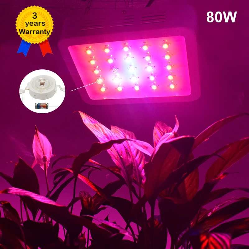 80W LED Grow Light Full Spectrum plant lights Lighting Fitolampy Lamp Lamps for Plants Flowers Seeding Growing Greenhouse