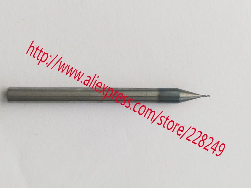 2 pièces 0.3mm hrc55 D0.3 * D4 * 50 2 Flûtes Micro Grain Fraise Hélicoïdale à Outils De Fraisage CNC Fraise fraises