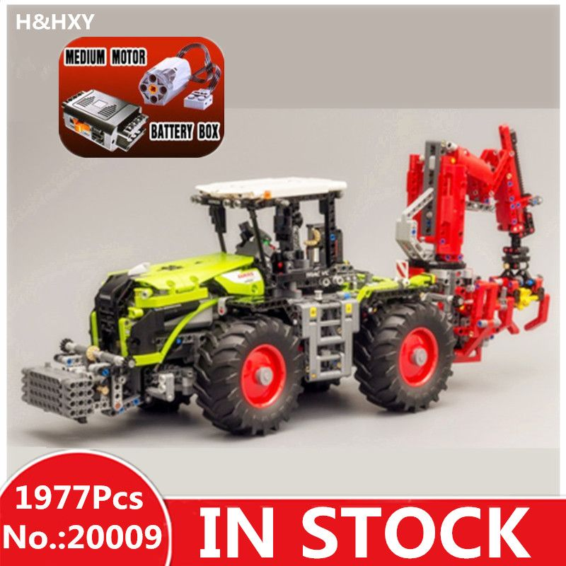 IN STOCK H&HXY 20009 1977pcs technic series The tractor LEPIN Model Building blocks Bricks Compatible Toy 42054