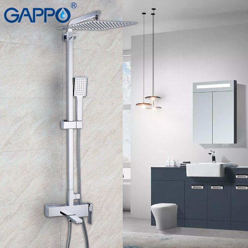 GAPPO shower Faucet wall Mounted Brass shower Griferia bathroom Rainfall shower set bathtub faucet bath tub waterfall faucet tap