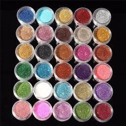 30 pcs Couleurs Mélangées Poudre Pigment Mineral Paillette Glitter Fard À Paupières Cosmétiques Maquillage Set Maquillage Shimmer Brillant Ombre À Paupières 2018