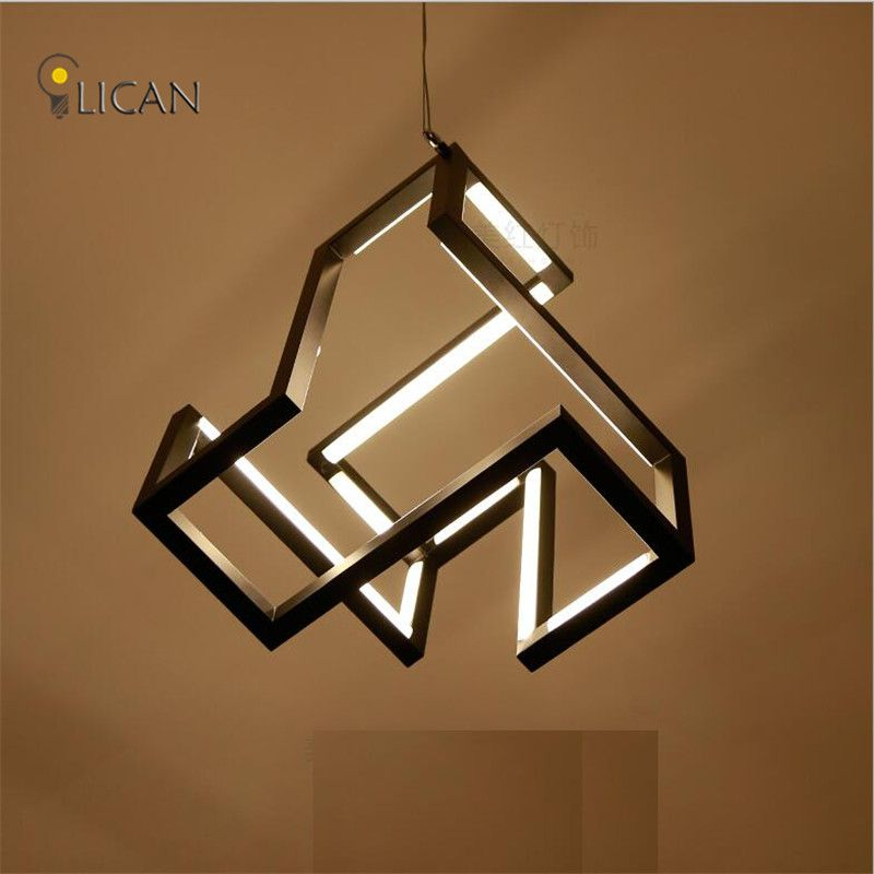 LICAN New designs Modern LED Pendant Lights For Dining Living room White/Black Creative Suspendor Hanging LED Wire Pendant lamp