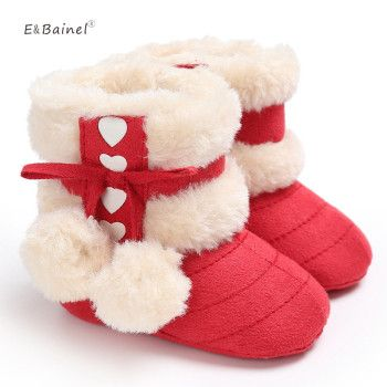 New Fashion Baby Booties Kids Newborn Children Infant Girls Winter Warm Snow Boots Fleece Baby Boot Fur Shoes 0-18M