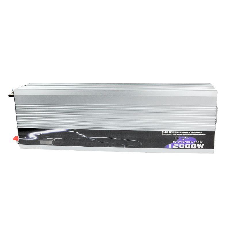 12000 watt Auto Inverter Reine Sinus Welle DC 12 v/24 v/48 v zu AC 220 v off-Gird Solar/Wind Power Inverter High Power Werkzeuge Konverter + USB