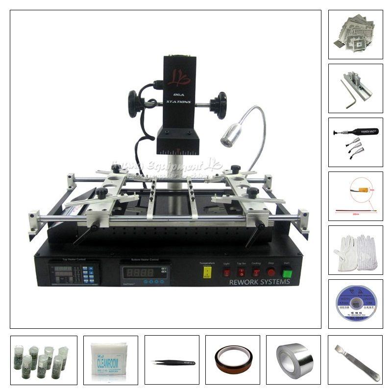 Infrarot Elektrische Rework Station IR8500 solder station mit 119 stücke direkt heizung schablonen