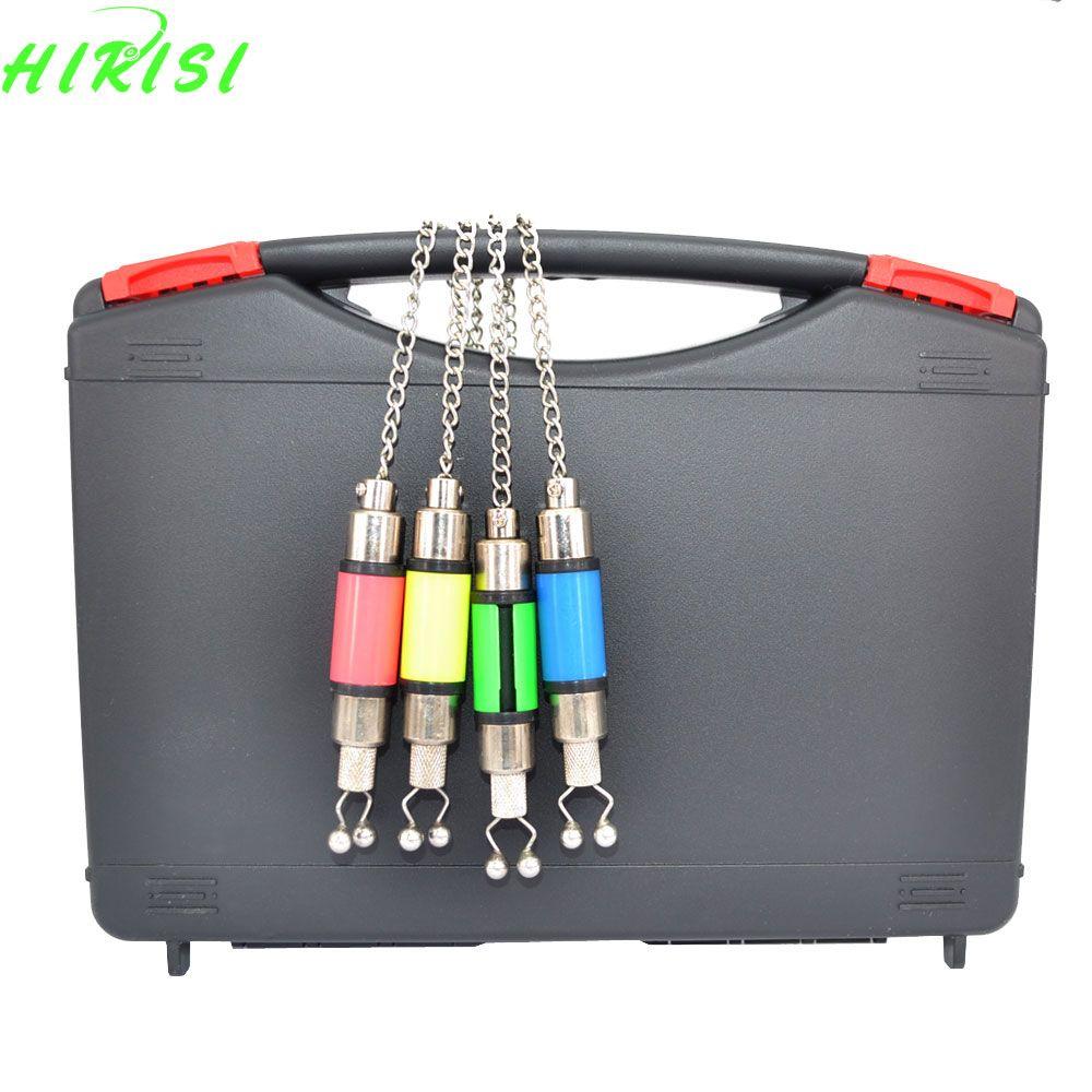 4Pcs Colorful Fishing Chain swinger carp swinger in black case