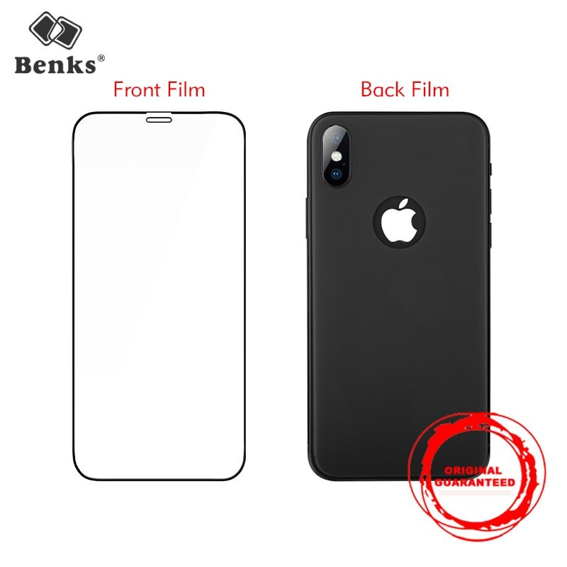 3D Front Film and Back Film For iPhone X Glass Benks Anti Scratch Full Cover Screen Protector Front Back Glass Curve Edge For ix