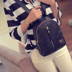 SUQI Pu leather Women Backpack Fashion Casual Codra Small Iron T-type mini backpacks bag for women 2018 Mochila Women Backpack