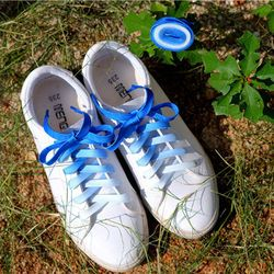 Flat Candy Color Gradient Changing Colors Shoe Laces Party Camping Boots Shoelace Canvas Strings Growing Canvas Strings