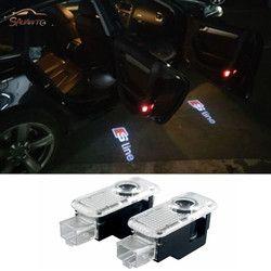 2 PC Voiture LED Porte Avertissement Lumière bienvenue Logo Projecteur Pour audi a4 a5 a6 b5 b6 b7 q3 q5 q7 rs quattro s ligne c5 c6 tt sline a3 a7