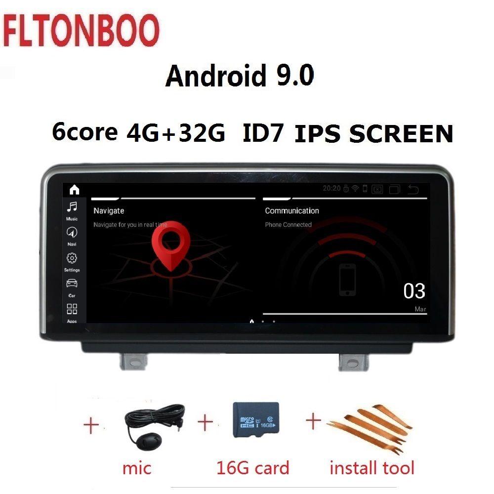 10,25 ''Android 9.0 Auto Gps navigation ID7 für BMW 3 Serie F30 F31 F34 Für BMW 4Serie F32 F33 f36 6 core 4GB RAM 32GB ROM 3G