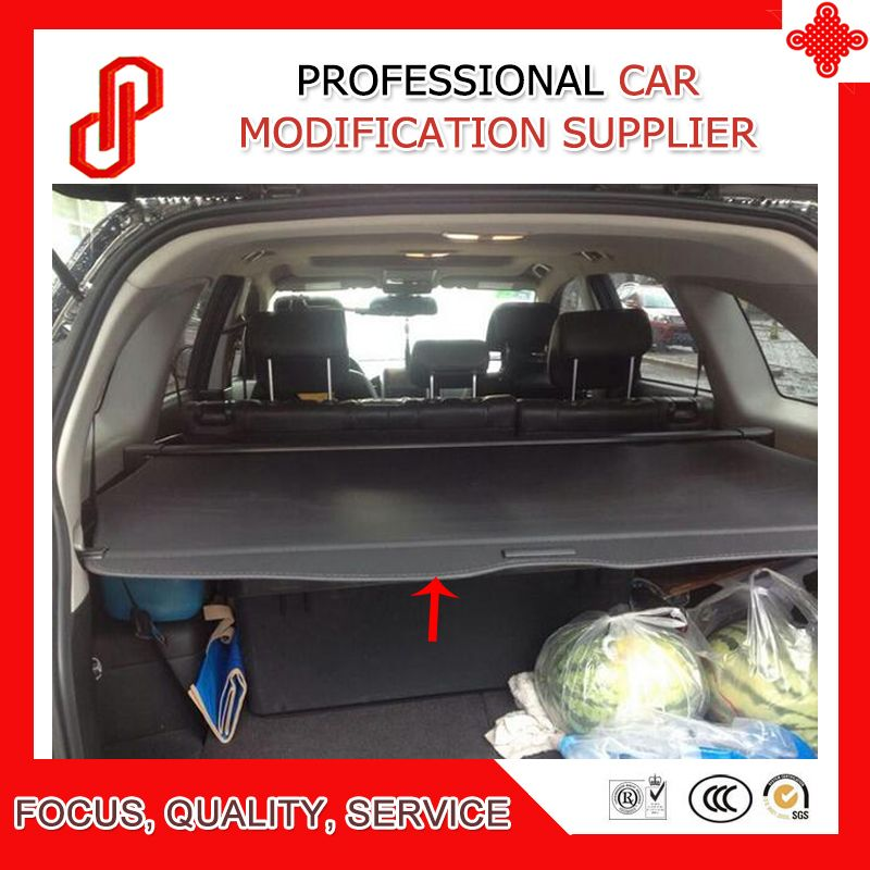 High quality 5 / 7 seat Rear Trunk Security Shield retractable Cargo cover Tonneau cover for Captiva 2008 - 11 12 13 14 15 16 17