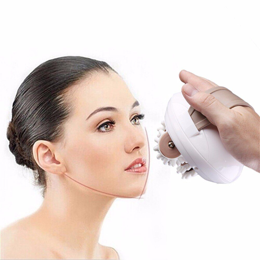 Professional 3D Mini Facial Face Kneading Massage Roller Electric Anti-Cellulite Control System Massager Body Slimmer EU Plug
