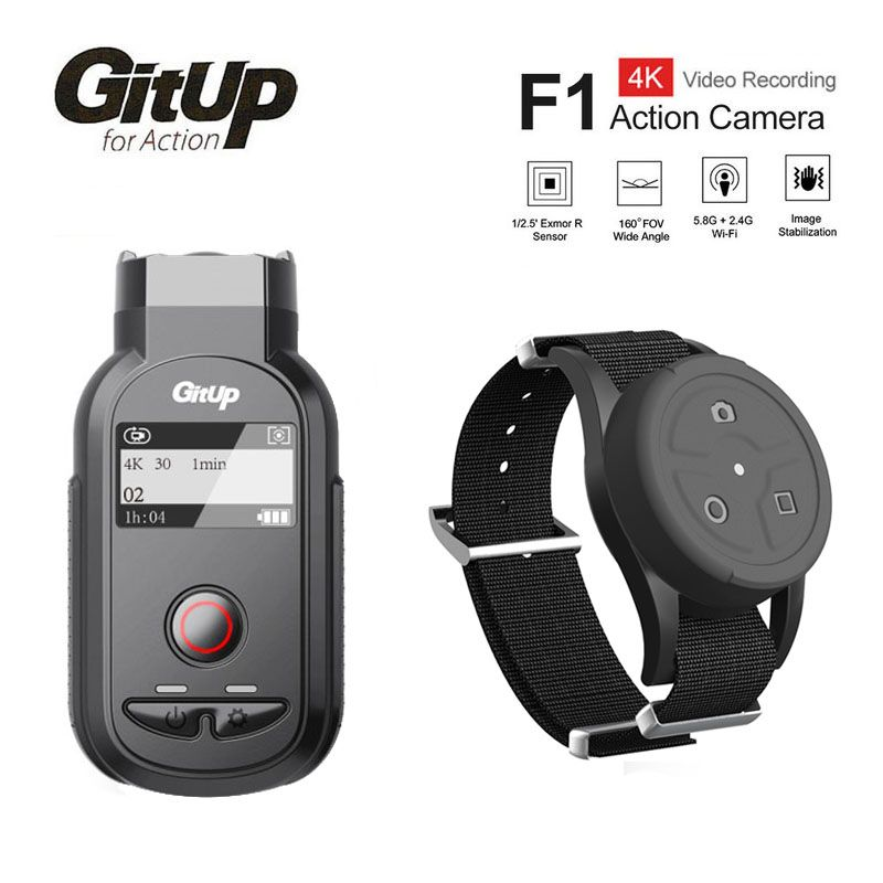 New GitUp F1 WiFi 4K 3840x2160p Sport Action Camera Video Dash Cam Ultra HD Time Lapse Outdoor Video Recorder W/Remote Control