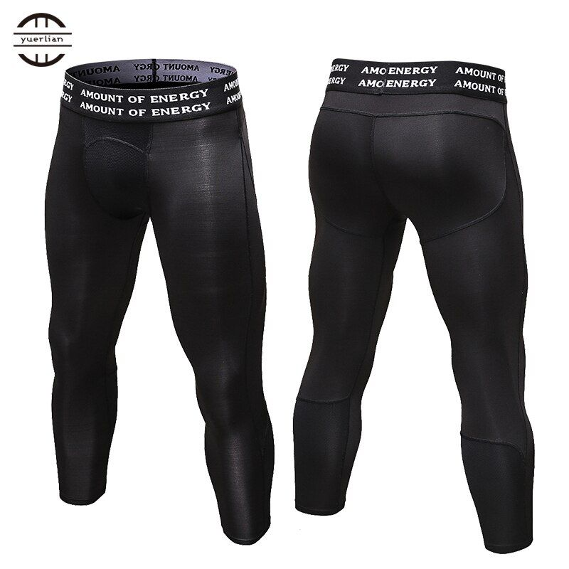 Yuerlian Gym 3/4 Leggings New Compression Sports Tights Sweat Pants For Men Jogging Trousers Running Quick Dry Sporswear Fitness