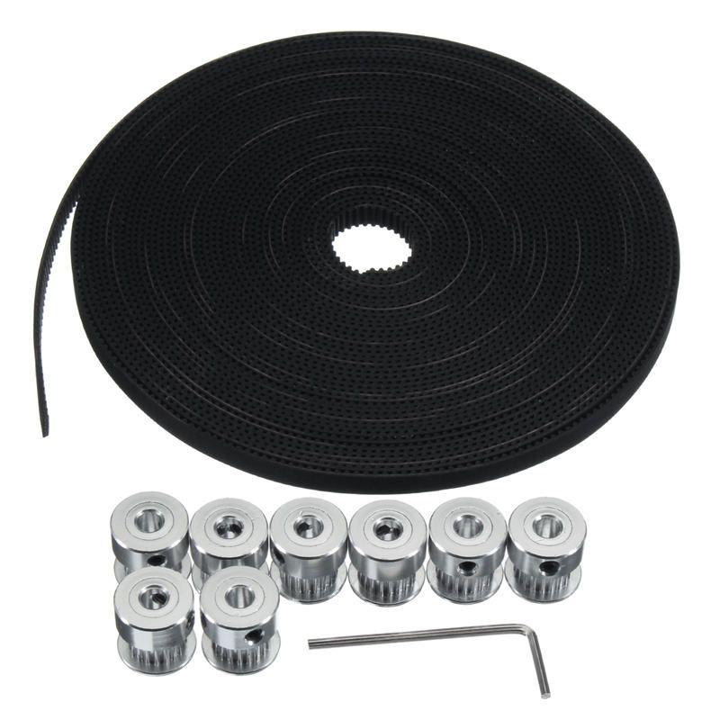Durable 10 mt 33ft 20 T GT2 Zahnriemen 6mm breite 10X Riemenscheibe Für 3d-drucker CNC RepRap Praktische