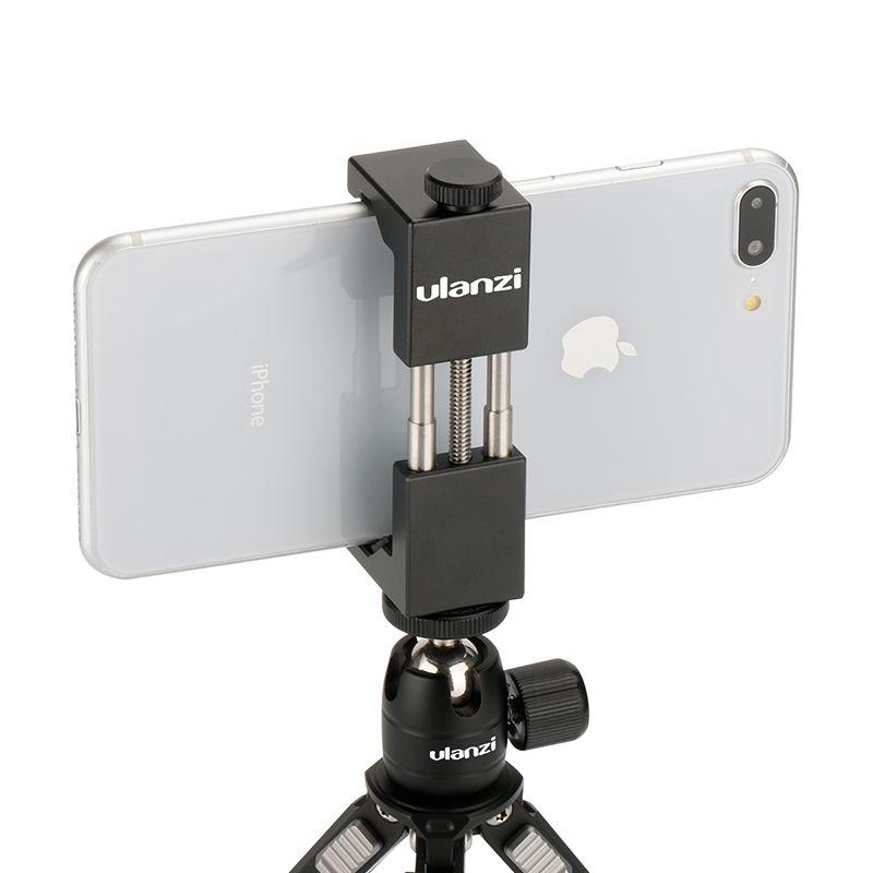 Ulanzi IRON MAN Smartphone Trépied Universel Support de Téléphone En Aluminium En Métal Trépied Adaptateur Support pour iPhone X 8 7 plus Samsung