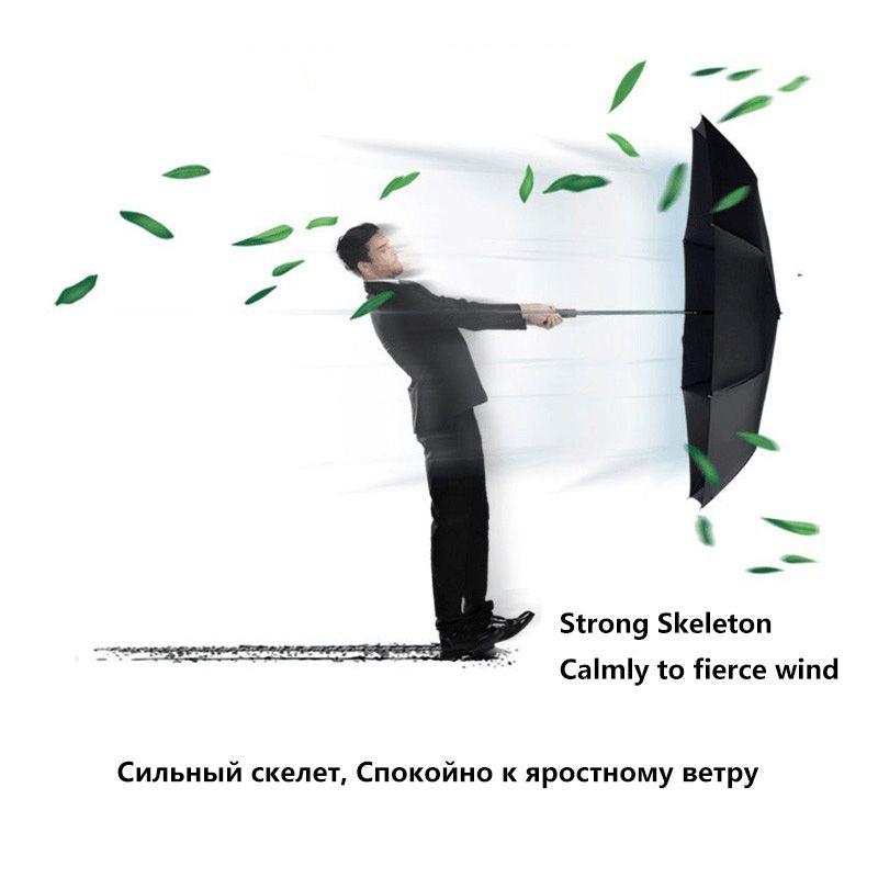 125 CM A Prueba de Viento Paraguas Automático Para Los Hombres de la Marca Grande de Paraguas Plegable Lluvia Mujer Doble Negocio del Golf Paraguas Coche Automático