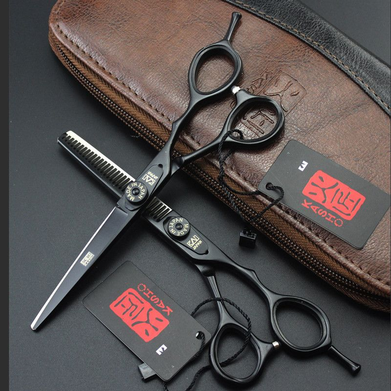 5.5 Inch Kasho Scissors Professional Hair Scissors High Quality Hairdressing Barber Hair Cutting Shears Sets with Bag 4 Colors
