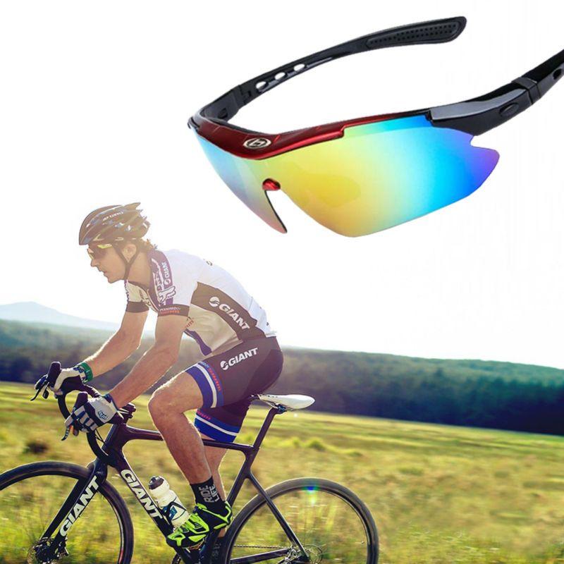 5 lentilles Lunettes De Cyclisme Polarisées avec Mypia Cadre Vélo De Sport De Pêche UV400 Lunettes De Soleil Anti-buée Vélo De Course Lunettes