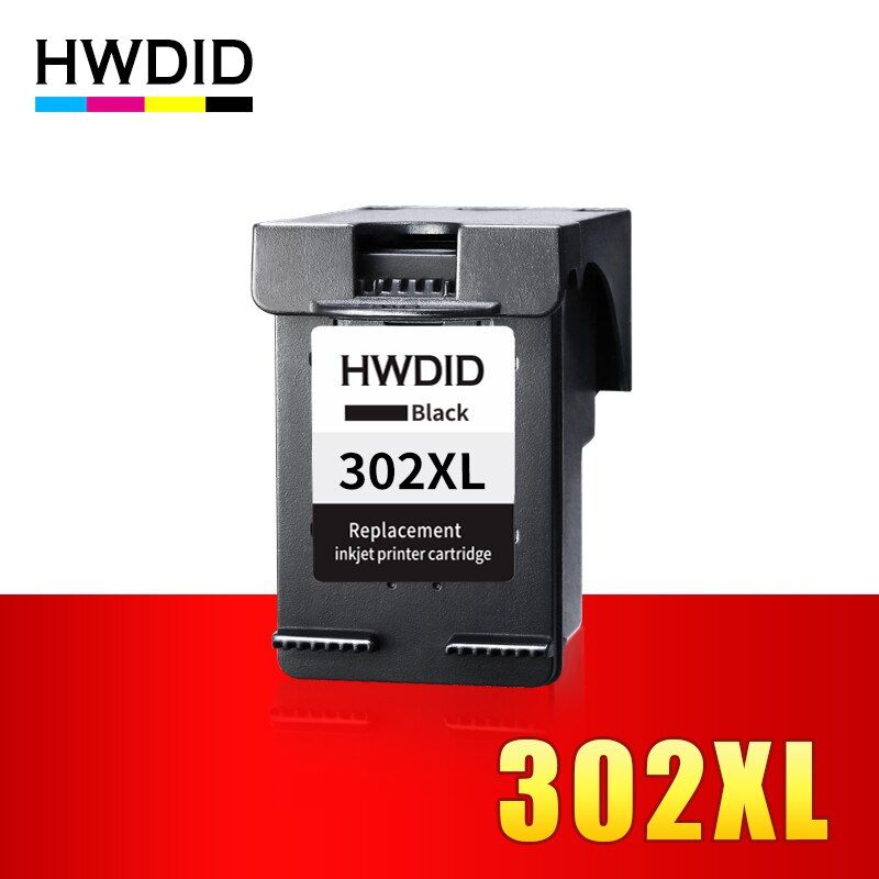 HWDID 302XL Refilled Ink Cartridge replacement for HP 302 BK for HP Deskjet 2130 1110 3630 Officejet 3830 4650 ENVY 4520 4522