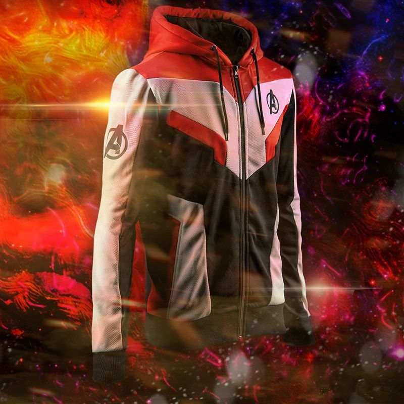 The Avengers 4 Endgame 3D Quantum Realm Iron Man Hoodie Men Captain America Costume Man/women Sweatshirt Jacket Superhero Zipper