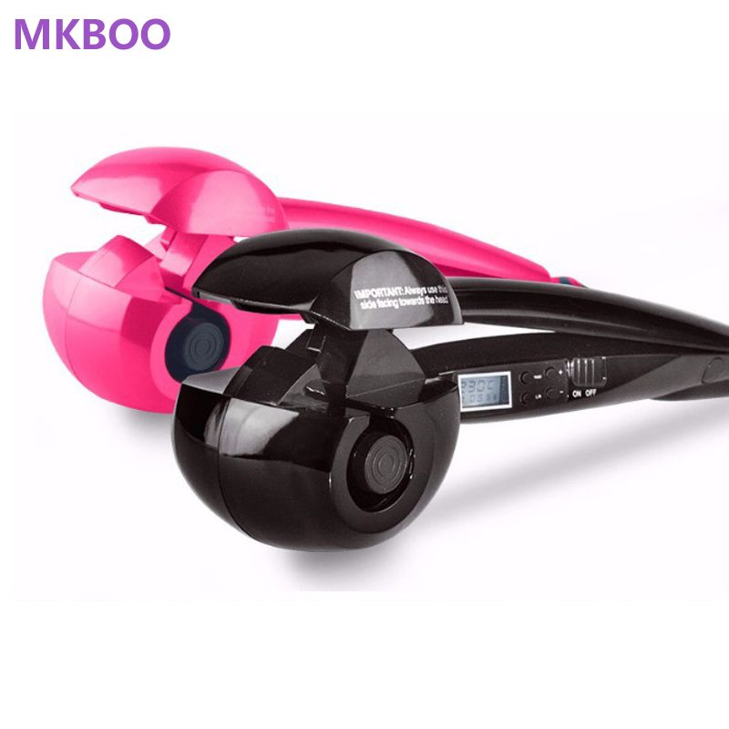 MKBOO LCD Screen Automatic Hair Curler Heating Hair Care Styling Tools <font><b>Ceramic</b></font> Wave Hair Curl Magic Curling Iron Hair Styler