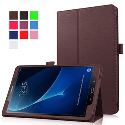 Stand PU Étui En Cuir Pour Samsung Galaxy Tab Un A6 10.1 T580 T585 T580N SM-T580 Couverture Cas Funda Tablet Cas + Film + Stylus stylo