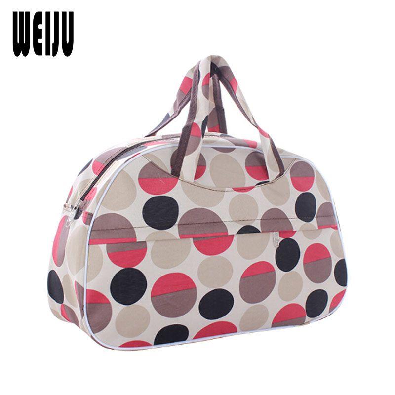 WEIJU 2017 Women Travel Bag Large Capacity Men Travel Bags Luggage Duffle Bag New Polyester Hand Bag 41m*28cm*16cm YA0285